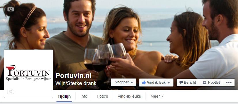 Facebook pagina Portuvin.nl