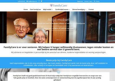 Website redesign Familycare.nl