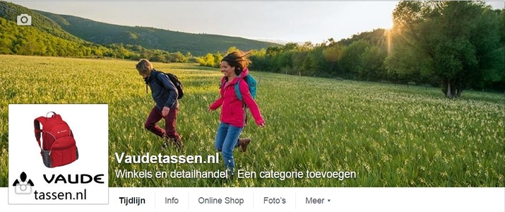 Facebook pagina en promotie Vaudetassen.nl